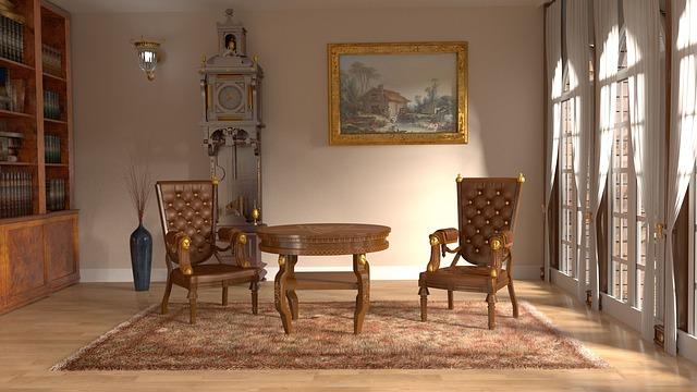 Landhausmöbel verleihen dem Raum oft mehr Gemütlichkeit.